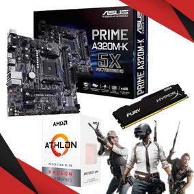 Kit Gamer Asus A320m-k Athlon 200ge Hyperx 16gb 2400mhz