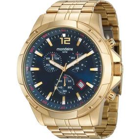 77c09b92215 Relógio Mondaine Masculino Urbano Dourado 60419gpmbdh2 - Relógios De ...