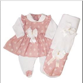 9169b0780e Saida De Maternidade Rosa Luxo - Bebês no Mercado Livre Brasil