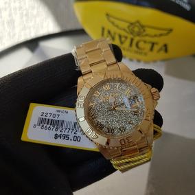 Relógio Invicta Feminino Angel 22707 Dourado Original Suíço