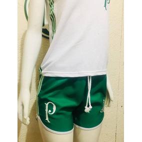 Shorts Feminino Do Palmeiras De Poliester Moda Praia