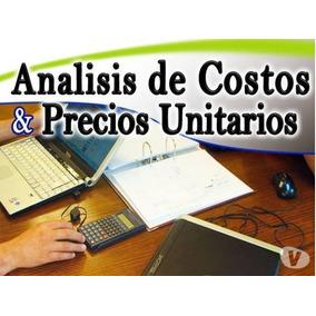 Análisis De Precios Unitarios Plantilla En Excel