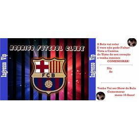 Convite Aniversario Barcelona Convites No Mercado Livre Brasil