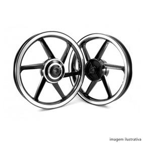 Roda Magnesio Fan 125 2009 (tambor) Preto Diamantado Audax