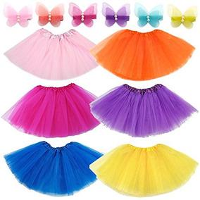 Elesa Miracle 6pc Girls Ballet Falda De Tutu Con Mini Clips