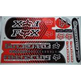 Adesivo Bicicleta Fox Racing Vermelho Preto Frete Grátis