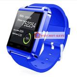 Azul - Bluetooth Smart Muñeca Reloj Teléfono - 571511663842