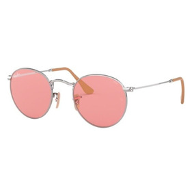 f47599aa10872 Oculos Sol Ray Ban Round Rb3447 9065v7 53 Rosa Fotocromatica