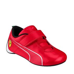 Tenis Puma Ferrari 306247-01 Rojo #17 Al #21 Niño Oi