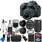 Camara Digital Nikon D5500 + 4 Lens 18-55mm Vr 70-300 + 32gb
