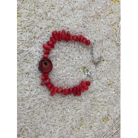Pulsera Coral Rojo