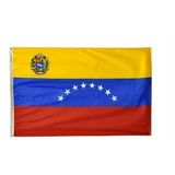 Bandera Venezuela 90 Cm X 150 Cm Con Aros Excelente Calidad