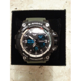 Relógio Casio G-shock Militar Pulseira Verde Fundo Preto