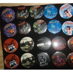Kit 50 Botons Clássicos Rock Atacado Loja Bandas Heavy Metal