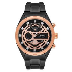 Relógio Orient Masculino Preto Cronográfico Rosê Mpssc012
