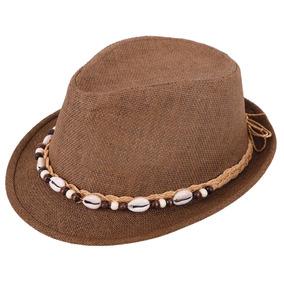 Los Hombres O Verano Paja Corta Fedora Sombrero De Mujeres 87854a9268f