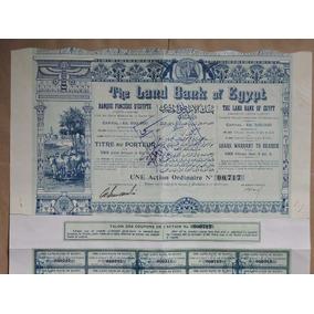 Egito Apolice 1905 Land Bank Of Egypt Alexandrie 5 Libras