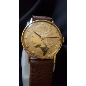 Reloj De Cuerda Maquina Suiza Chapado En Oro