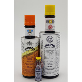 Kit Angostura Aromatic 200ml + Orange 100ml + Mini 3,5ml