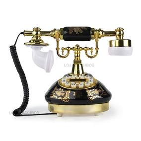 Telefone Antigo Retro Vintage Digital Decoração Dourado