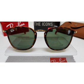 Óculos Sol Ray-ban Scuderia Ferrari Rb2448 Aço Dourado E G15 526a5e183a