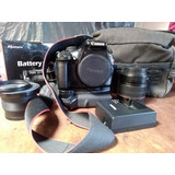 Camara Canon Eos Rebel T3+battery Grip+lente Ojo De Pescado
