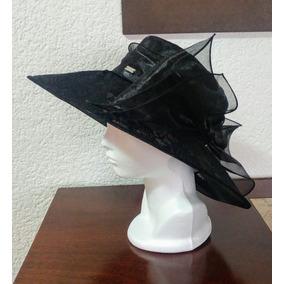 Sombrero Dama Negro Moño Flores Betmar Fiesta Boda Elegante a2b2610a68d