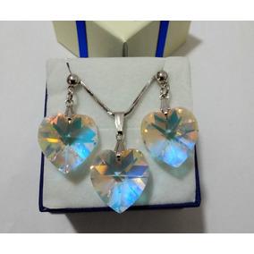 Conjunto Cristal Swarovski Aurora Boreal 1,8cm Promoção