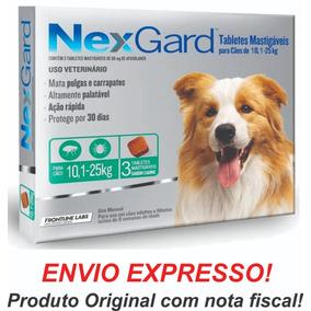 Nexgard Antipulgas E Carrapatos 10 A 25kg C/3 Val Out19