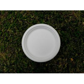 Platos Biodegradables Desechables 22cm 500 Pzs