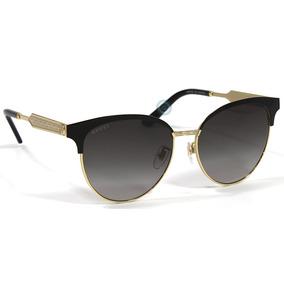 Lentes Gucci Gg0074sk 002 Black   Gold - Grey Gradient Dama 12da0428798a