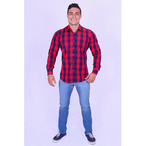 Camisa Social Masc. Xadrez Watkins-35305 - Asya Fashion