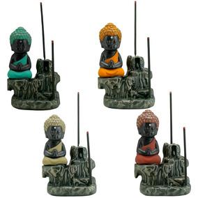 Incensário Mini Buda P/ Incenso Cone - Backflow