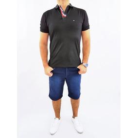 Bermuda Slim Masculina Com Elastano