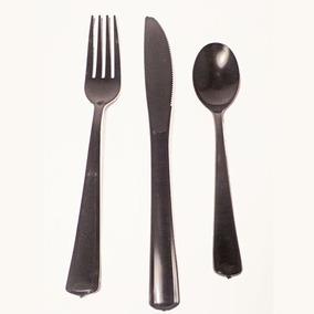Cubiertos Duros, Tenedor Negro X10