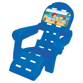 Cadeira Espreguiçadeira Plástica Praia Infantil P/ Criança