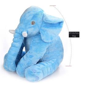 Travesseiro De Elefante Azul Cartoon Toys