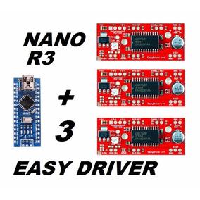 3 Peças Easydriver A3967 + Arduino Nano R3 + Cabo Usb