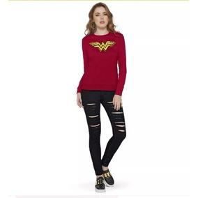 Sudadera Roja, Wonder Woman +regalo Sorpresa, Andrea