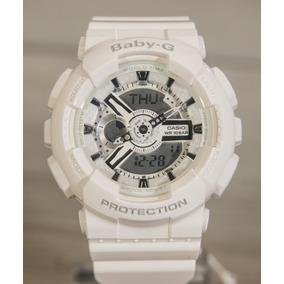 Relógio Baby G G-shock Feminino Ba110 Branco Ba-110-7a3dr