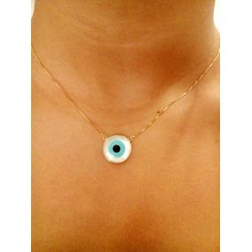 4b1cefff2987f Colar Olho Grego Ouro 18k - Colar de Ouro Feminino no Mercado Livre ...