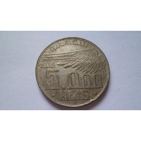 Moeda 5000 Réis 1936 Santos Dumont