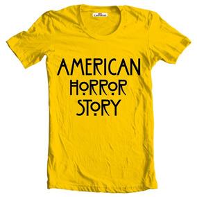 6b9712c50f Camiseta Camisa Blusa Baby Look Regata American Horror Story