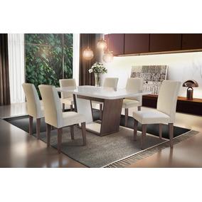 Mesa De Jantar Sofia 1,80 X 0,90 C/6 Cadeiras Grecia
