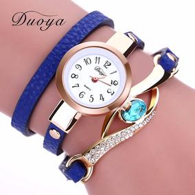3b0954ea563 Relogio Feminino Pedra Strass Azul - Relógios De Pulso no Mercado ...