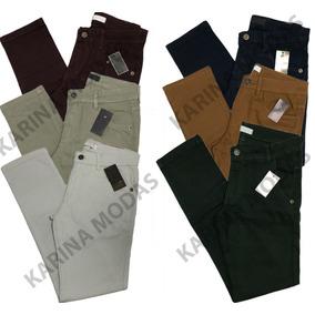 Kit 3 Calças Jeans Sarja Masculina Skiny