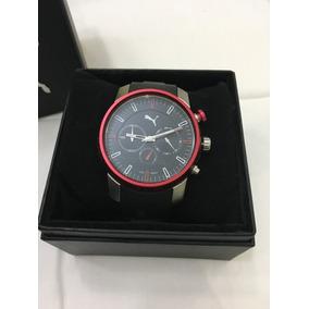 Relógio De Pulso Masculino Puma Original Preto E Vermelho