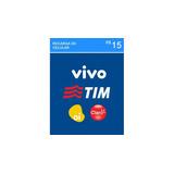 Recarga Celular Crédito Online Tim, Claro, Vivo, Oi R$ 15,00