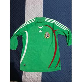 Jersey Selección Mexicana 2008. Talla Mediana Manga 3 4 090b3eae6def3