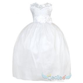 Vestido Charro Para Niñas Blanco Ropa Para Bebés En